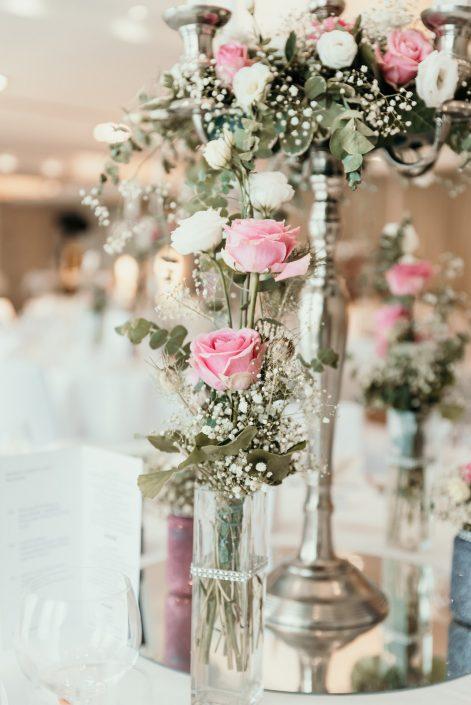 Kleine Blumenvase Hochzeit